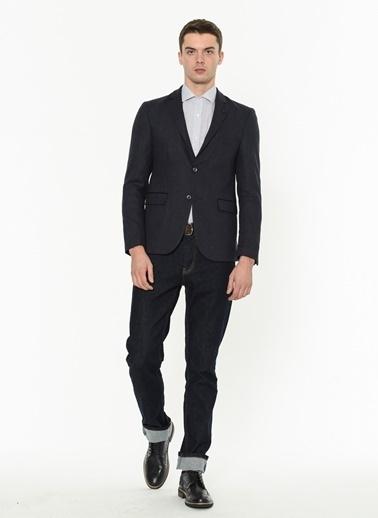 Dewberry Slim Fit Blazer Ceket Lacivert